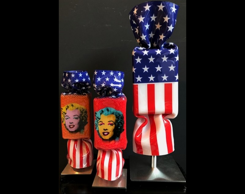 'Homage to Marilyn Monroe' - 'The stars and stripes' - Ad van Hassel