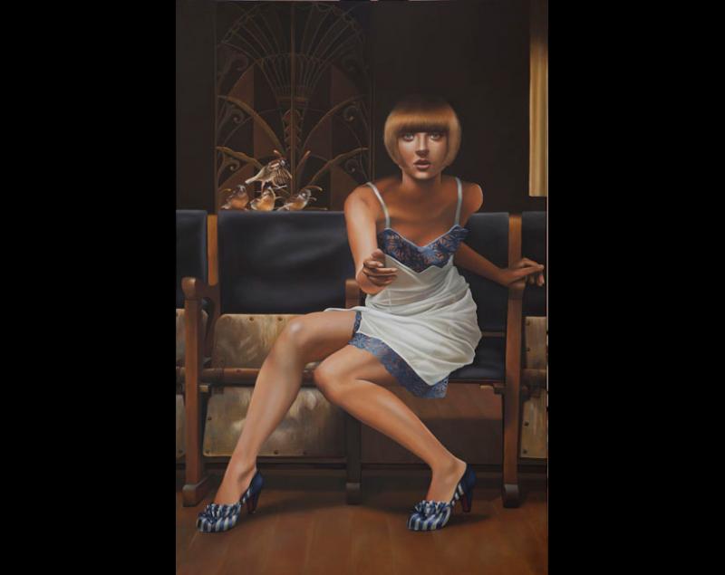''Saved you a seat'' - Helene (giclée) Terlien