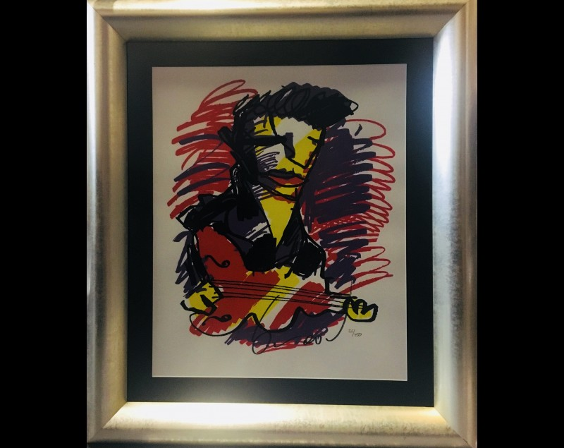 'Guitarman' - Herman Brood bij Tres Art Kunstgalerie