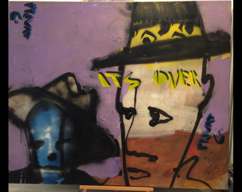 'It's over' - Collector's item! - Afkomstig Herman Brood Museum privé collectie! - Herman Brood bij Tres Art Kunstgalerie