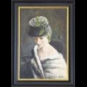 ''Vrouw met hoed'' door  Frans de Kok - Tres Art Kunstgalerie