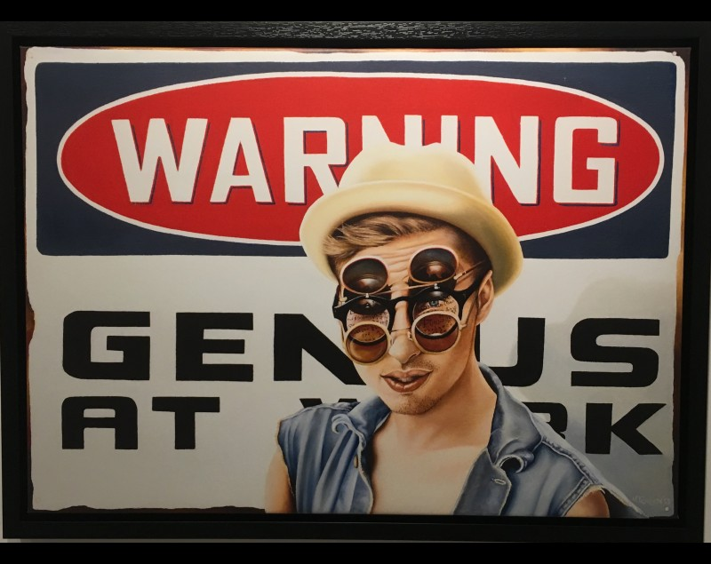 'Warning genius at work' - Helene Terlien bij Tres Art Kunstgalerie