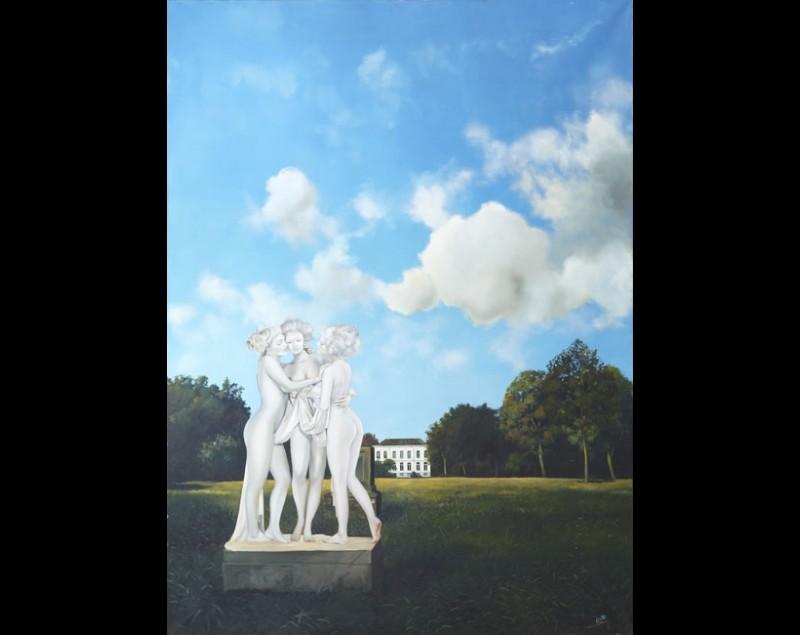 'Het gerucht' - schilderij uit 1996 - Roeland van der Kley